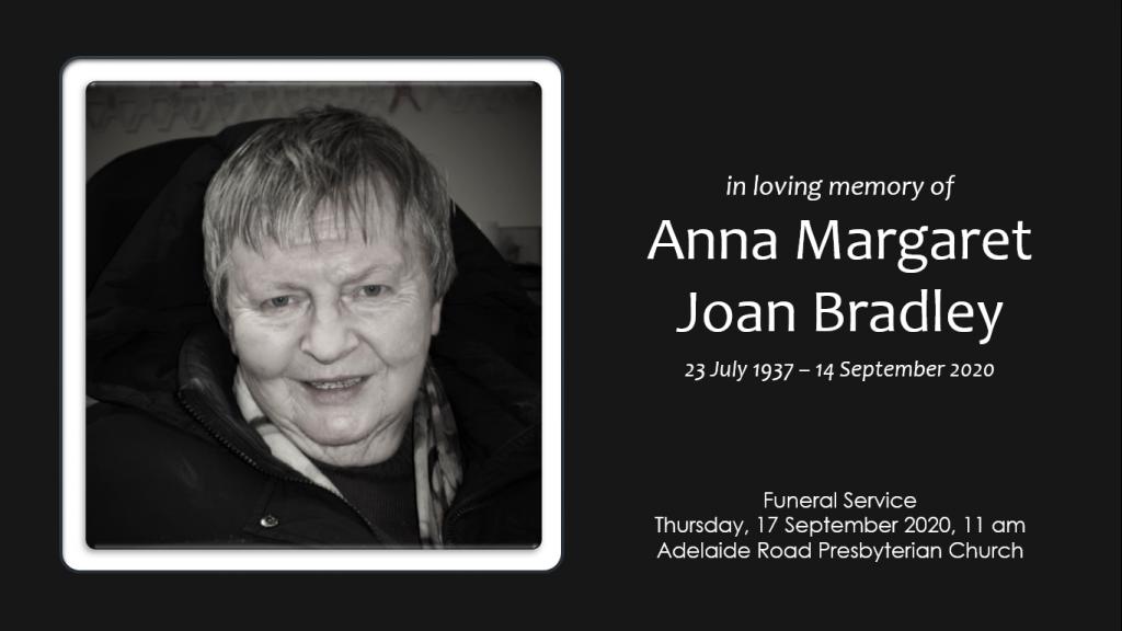 Joan Bradley's Funeral Service
